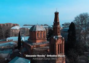 Mədəniyyət Nazirliyi Aleksandr Nevski kilsəsinin görüntülərini yayımlayıb