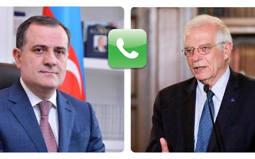 Jeyhun Bayramov informs EU High Representative about Armenia's provocation