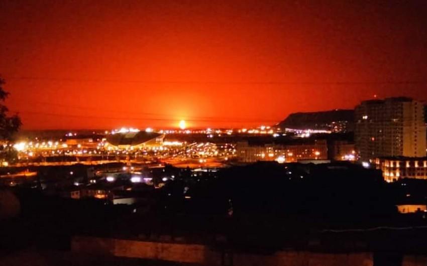SOCAR: Daşlı adada təbii şəkildə yanan palçıq vulkanı müşahidə olunub