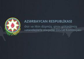 Birinci Qarabağ müharibəsində itkin düşmüş 7 nəfərin meyitinin qalıqları Azərbaycana təhvil verildi