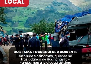 At least 20 dead in bus accident in Peru