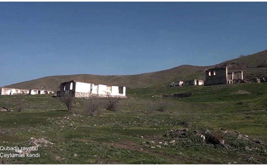 Video footage from liberated Chaytumas village of Gubadli region