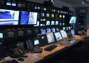 Azərbaycanda televiziya kanallarında çalışan işçilərin sayı açıqlandı