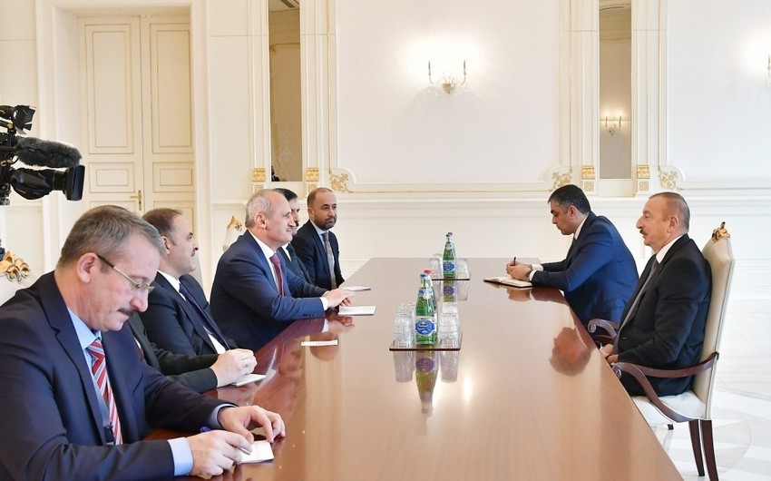 President Ilham Aliyev received delegation led by Turkish minister of transport and infrastructure