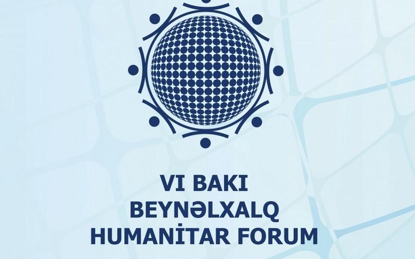 VI Beynəlxalq Humanitar Forumun proqramı açıqlanıb