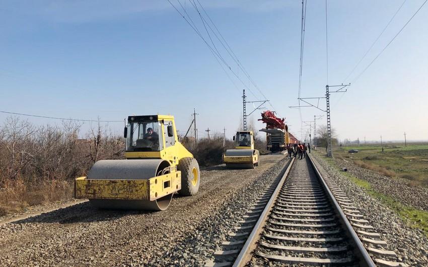 Repair on Shamkir-Alabashli railway line underway