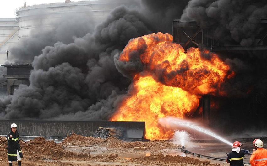 Çində neft anbarında partlayış olub: 5 ölü, 3 yaralı