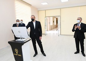 "President Ilham Aliyev launches 110/35/10 Kv ""Garasu"" substation in Hajigabul"