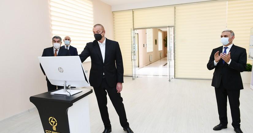 Prezident Hacıqabulda Qarasu yarımstansiyasının açılışında iştirak edib - YENİLƏNİB
