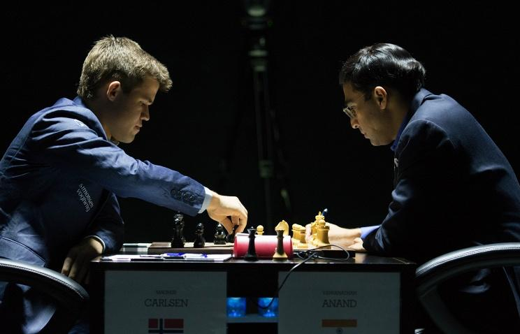 Game one between Anand and Carlsen ends in a draw