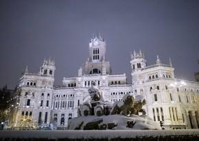 Madriddə son 76 ilin ən soyuq havası qeydə alındı