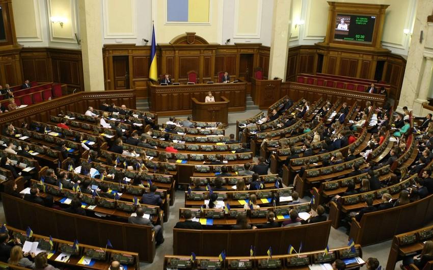 Ukrayna Ali Radası deputat toxunulmazlığının ləğvi barədə Konstitusiya Məhkəməsinə iki qanun layihəsi göndərib