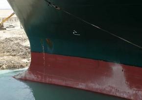 Gəminin Süveyş kanalından çıxarılması cəhdi uğursuzluqla nəticələnib