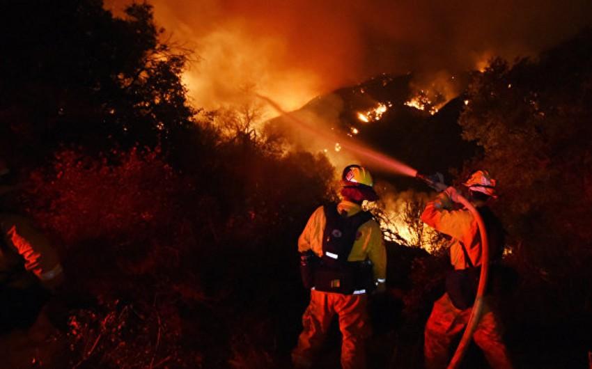 ABŞ-da 150 nəfər güclü meşə yanğınının baş verdiyi ərazidə qalıb