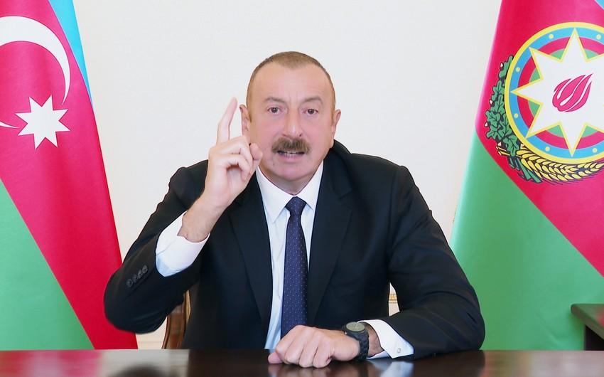 """Prezident: """"Azərbaycan xalqını təhqir etmək sizə çox baha başa gəlir"""""""