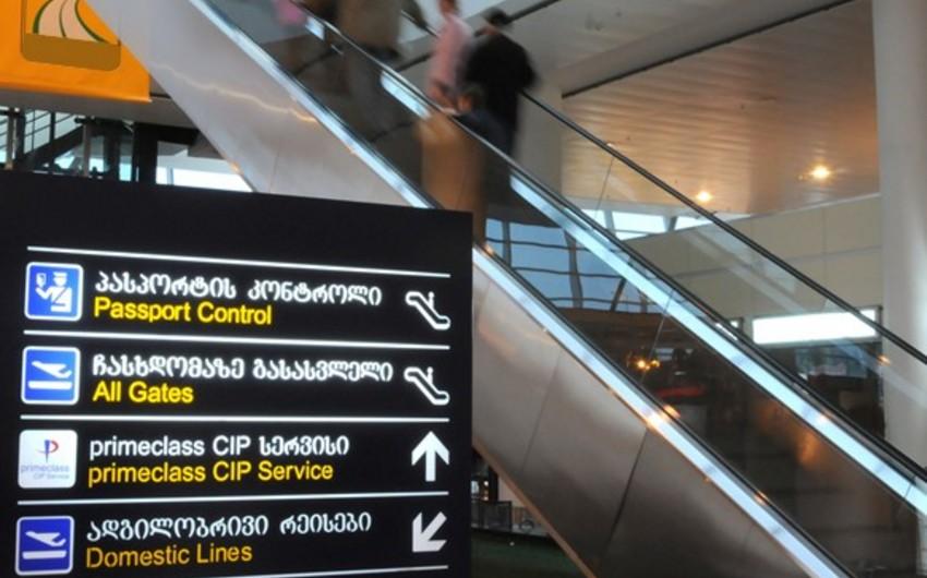 Tbilisi hava limanında sərnişindaşıma 15% azalıb
