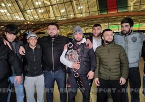 Защитивший чемпионский пояс в Москве Нариман Аббасов вернулся на Родину
