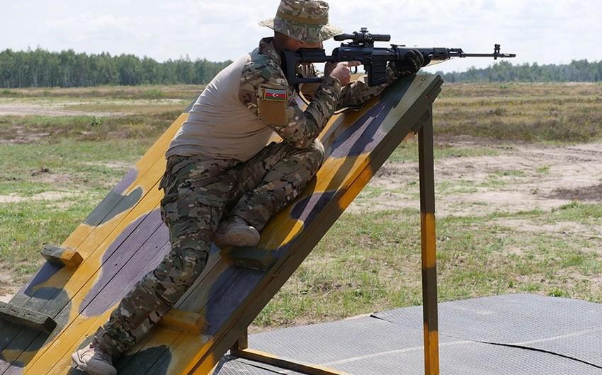 Выполняются эпизоды конкурса Снайперский рубеж - ВИДЕО