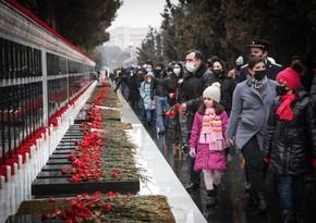 """Şəhidlər Xiyabanındakı şəkil """"Guardian""""da günün fotoları sırasındadır"""