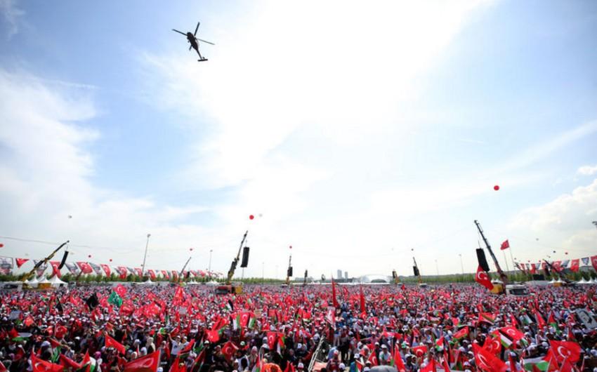 """İstanbulda """"Zülmə lənət, Qüdsə dəstək!"""" mitinqi keçirilib - YENİLƏNİB"""