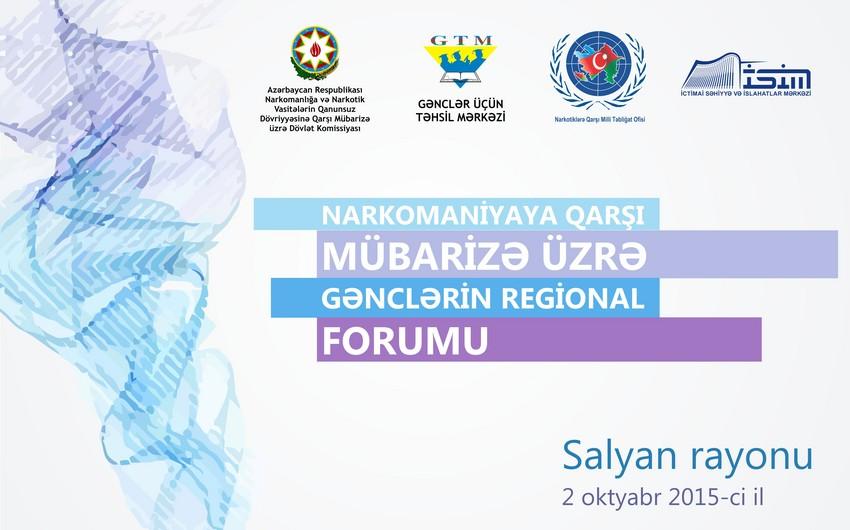 Narkomaniyaya Qarşı Mübarizə üzrə Gənclərin Regional Forumu keçirilib