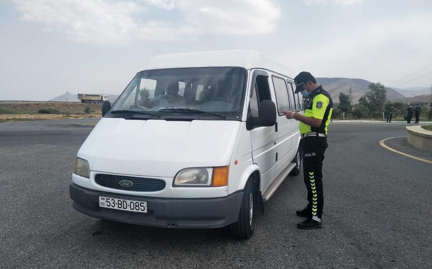 Siyəzəndə polis gücləndirilmiş iş rejimində çalışır