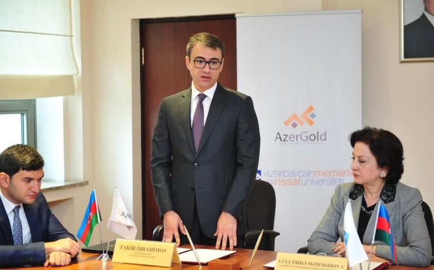 """AzMİU ilə """"AzerGold"""" QSC arasında əməkdaşlıq memorandumu imzalanıb"""