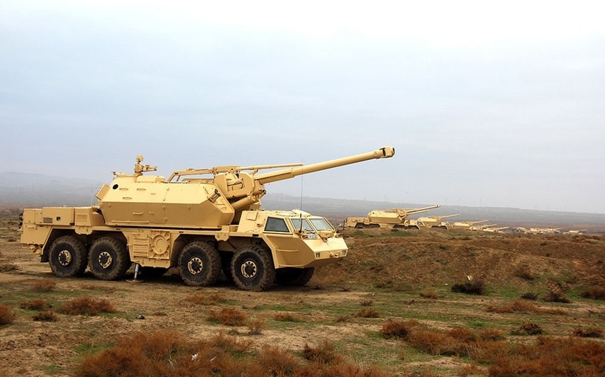 Azerbaijan's artillery units conduct practical firing from DANA self-propelled artillery systems - VIDEO