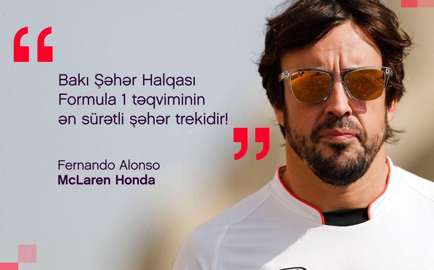 Fernando Alonso: Bakı Formula 1 yarışlarına ev sahibliyi etmək üçün əla seçimdir