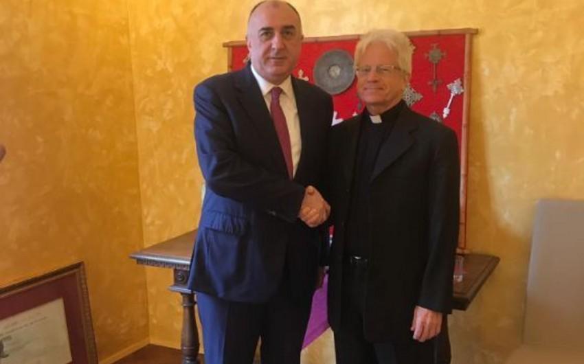 Elmar Məmmədyarov Vatikan Pontifik Şərq İnstitutunun rektoru ilə görüşüb