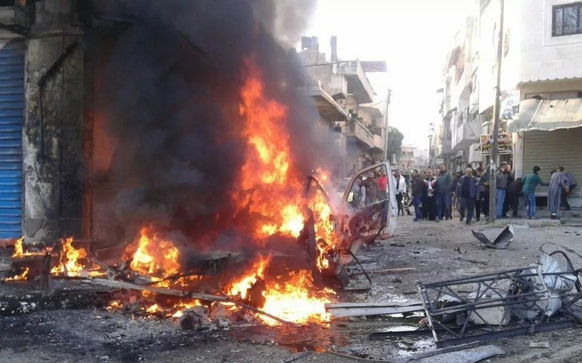 Suriyada baş verən partlayışda 8 nəfər ölüb, 20 nəfər yaralanıb