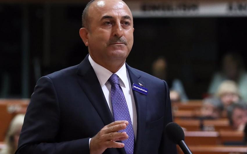 """Mövlud Çavuşoğlu: """"Tək millət, tək ürək Azərbaycan!"""" - FOTO"""