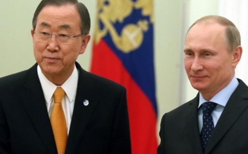 Rusiya prezidenti ilə BMT baş katibi Sankt-Peterburqda görüşəcək