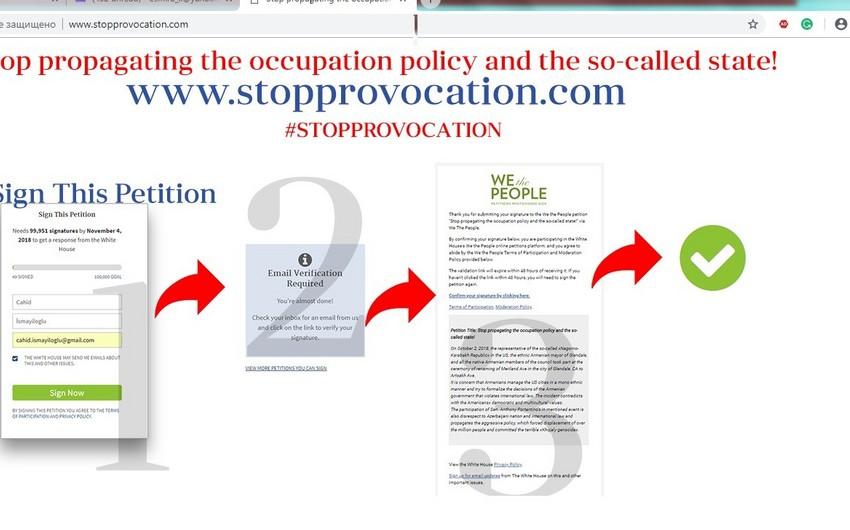 Kaliforniyada prospektin Arsax adlandırılmasına etiraz olaraq  petisiya hazırlanıb