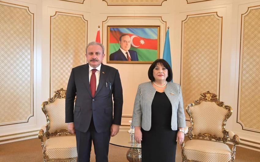 Azərbaycan və Türkiyə parlamentlərinin sədrləri görüşüblər