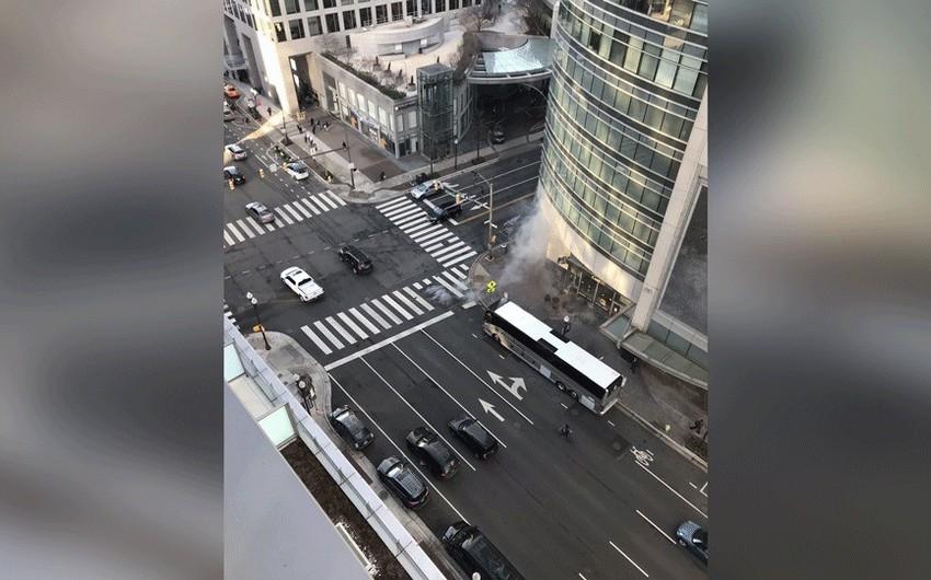 Vaşinqtonda metrostansiyasının transformatoru partlayıb - VİDEO