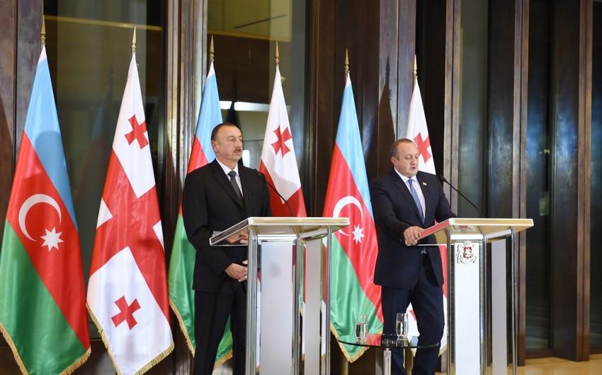 Президенты Азербайджана и Грузии встретились с азербайджанцами в Марнеули