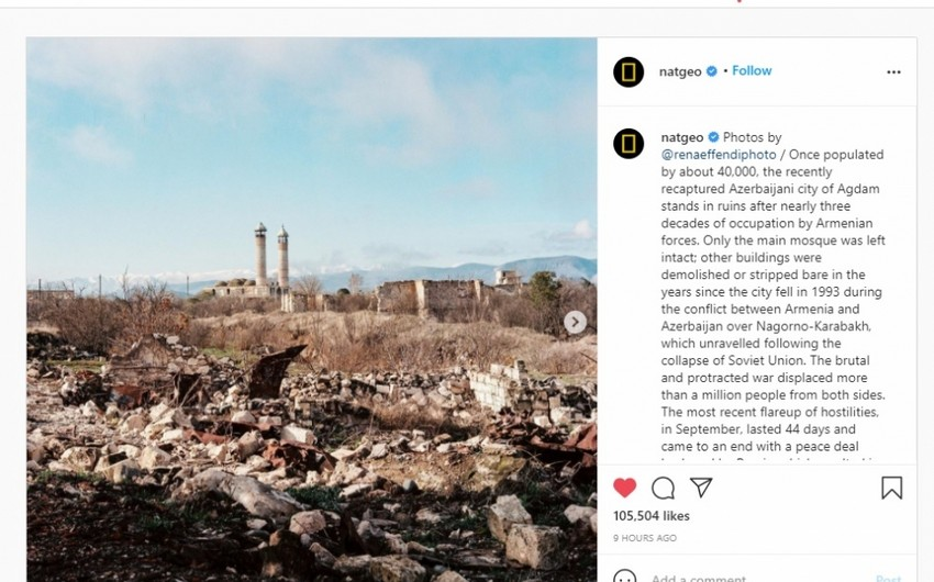 National Geographic: Agdam in ruins after 30 years of Armenian occupation
