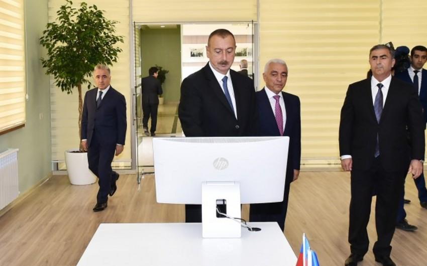 """İlham Əliyev Salyanda """"Qaraqaşlı"""" yarımstansiyasının açılışında iştirak edib"""