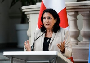 """Salome Zurabişvili: """"Gürcüstan, Azərbaycan, Ermənistan Qafqazı tərəqqi regionuna çevirməlidir"""""""