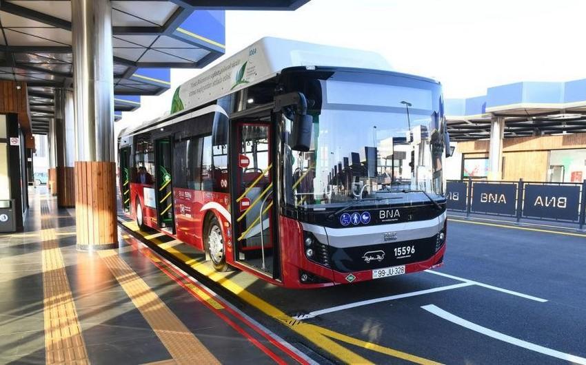 Bakıda ekspres avtobus xətlərinin iş qrafiki dəyişdirildi