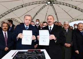 Azərbaycan və Türkiyə prezidentləri Zəngəzur dəhlizinin təməlini qoyublar