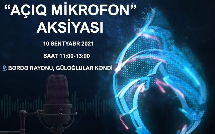 """""""Azəriqaz""""ın növbəti """"Açıq mikrofon""""u Bərdənin Güloğlular kəndində olacaq"""