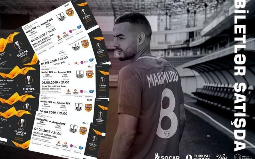 Neftçi - Arsenal matçının biletləri tükənmək üzrədir