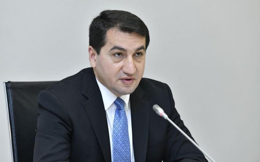 Hikmət Hacıyev: Azərbaycan ATƏT-in Minsk qrupu çərçivəsində konkret danışıqların tərəfdarıdır