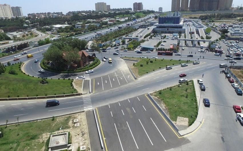 """Metronun """"Avtovağzal"""" stansiyasının ətrafında yeni yol hissəsi salınıb"""