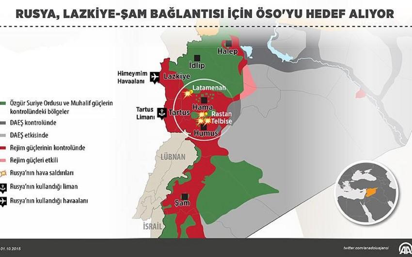 SAO: Rusiya Suriyada müxalifətin mövqelərini vurur