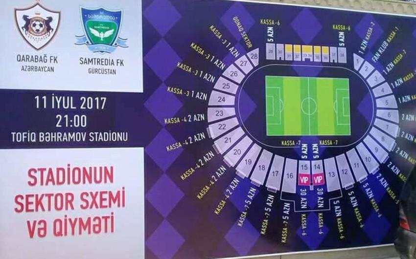 Обнародована стоимость билетов на матч Карабах -Самтредиа