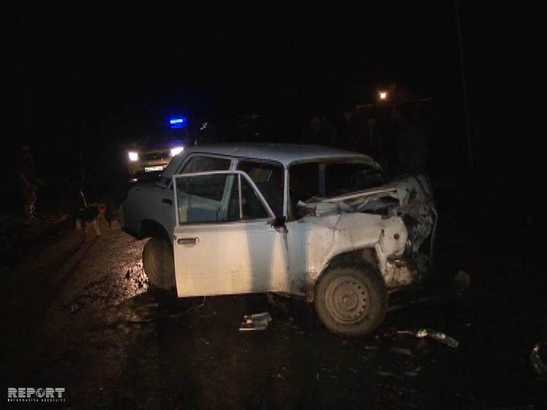 В Евлахе произошло ДТП, 1 человек пострадал