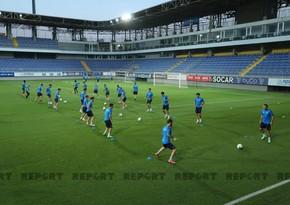 Клуб Динамо вышел на последнюю тренировку на Bakcell Arena